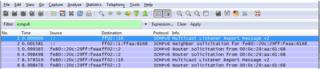 Filto ICMPv6 en wireshark