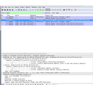 Neighbor Solicitation. ICMPv6 (Windows)