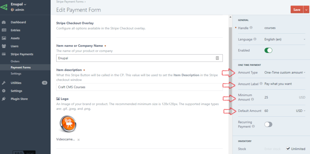 Custom Amount - (Donations) - Stripe Payments Plugin Docs
