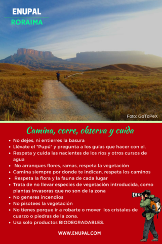 Tips to care for and preserve the Roraima tepuy